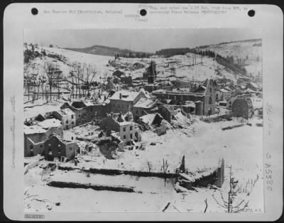 Fold3 Image - Belgian town of Houffalize, bombed during the Battle of the Bulge