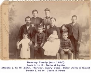 John Marion BEESLEY (1847 - 1901) and Family