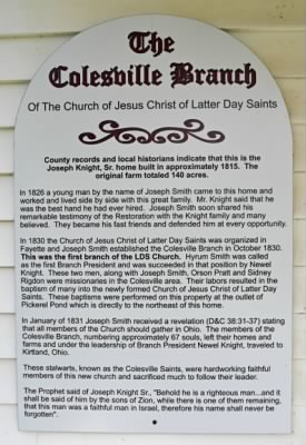 Story of Colesville Branch, LDS church