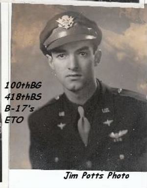 Jim Potts FRIEND, _____, 100th Bomb Group/ ETO