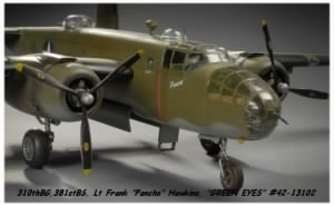 B-25 Painted to match the GREEN EYES #41-13102, Shot-Down
