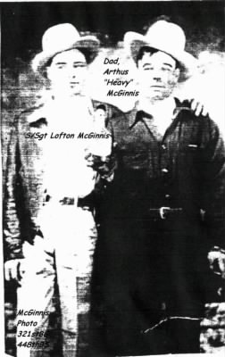 Lofton McGinnis (Left) with his DAD ... 321stBG, 448th BS, B-25