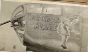 #43-3403 Incendiary Blonde, shot-down 20 Oct. 1944 Sgt William Mabbutt evaded.