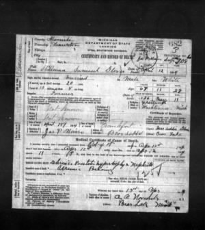 Samuel Stillman Glover Jr. Death Certificate