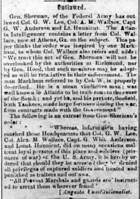 Alex M Wallace 1864 Outlawed by Gen Sherman.JPG