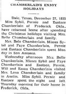 Chamberlains Enjoy 1935 Xmas Holidays.JPG