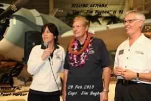 "28 Feb.2013, Docent ""Capt. Jim Bugbee, SURPRISE 91st Birthday Party, West PAC, Hawaii"
