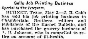 Chamberlain Bros 1907 Buy J B Cobb Printing Business.JPG