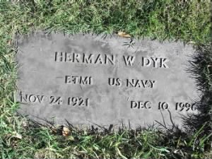 Herman W Dyk Headstone
