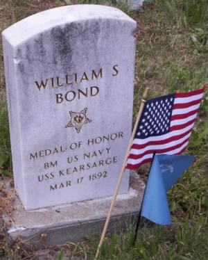 Boatswain's Mate William S Bond Navy Headstone