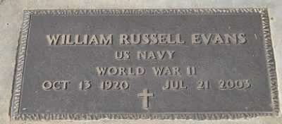 William Russell Evans Navy Headstone - Fold3.com