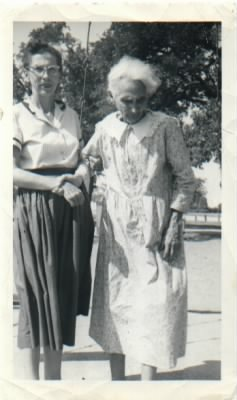 Aunt Lucille and her mother Mollie Commander.jpg