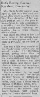 Ruth Beatty 1948 Obit.JPG