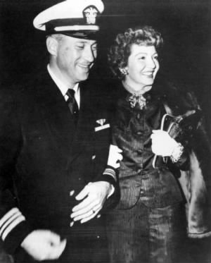Dr Pressman and his wife Claudette Colbert