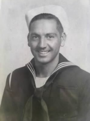 Picture of Malcolm who served in WWII in the US Navy