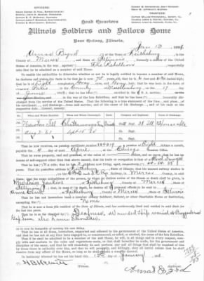 Application for Soldiers Home - Fold3.com