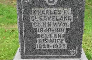 Gravemarker - Charles F. Cleaveland and wife, Ellen