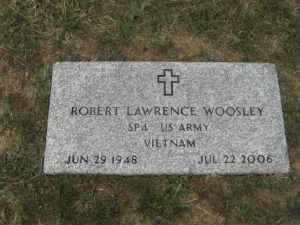 Grave Marker for Robert Lawrence Woosley