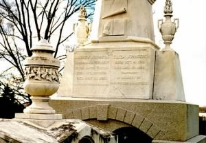 Monument at the grave of Andrew & Eliza Johnson