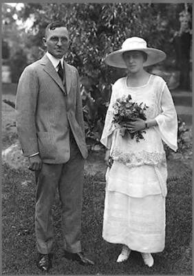 Harry and Bess's wedding photo