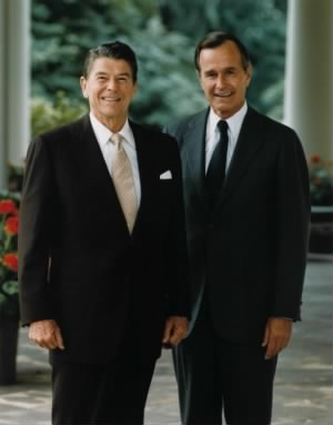 President Reagan and Vice President Bush