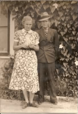 Houston Everett Fletcher and unknown female.