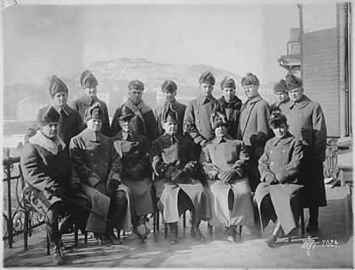 William Graves (center) and staff in Russia, c1918.jpg - Fold3.com