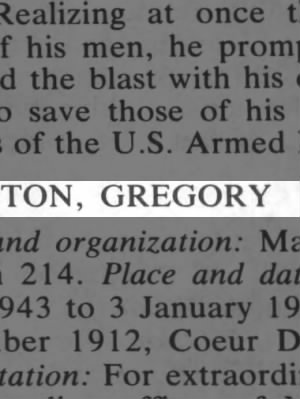 Boyington, Gregory