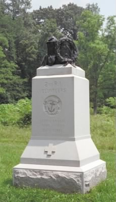 Monument to the Second Rhode Island Infantry at Gettysburg