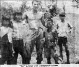 CPL Zeltner With Vietnamese Children