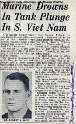 1stLt Robert Butz Drowns
