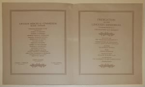 Dedication Ceremony Programs