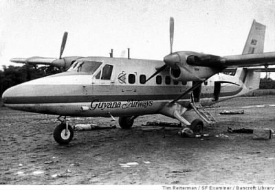 Plane at Guyana where the shootings took place - Fold3.com