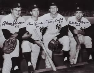 1961 New York Yankee Infield Skowron, RIchardson, Kubek, Boyer.jpg