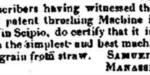 Manasseh Knox 1827 Testimonial Threshing Machine.JPG