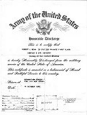 honorable discharge of Robert L Bean.jpg - Fold3.com