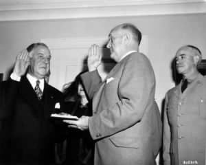 Stephen T. Early is administered the oath of office for Under Secretary of Defense..jpg