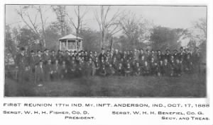Souvenir, the Seventeenth Indiana Regiment 1913 Reunion 1888.PNG