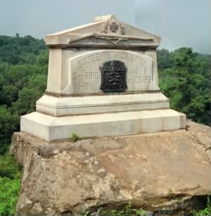 Monument to the 16th Michigan on Little Round Top at Gettysburg.jpg