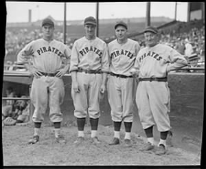 Arky Vaughan, Gus Suhr, Pie Traynor and Honus Wagner.jpg