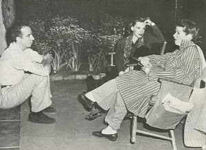 Vincente Minnelli, Judy Garland, Katharine Hepburn on set. Undercurrent (1946)..png