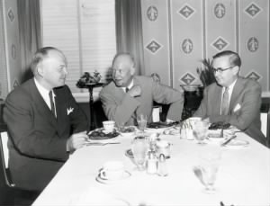 Harold Stassen, Dwight D. Eisenhower, and Arthur Vandenberg Jr. discussing campaign strategy..jpg