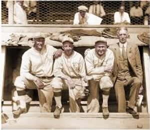 Zack Wheat, Eddie Collins, Ty Cobb. Connie Mack.jpg