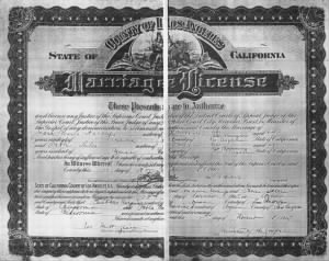 Jose Maria Naranjo - Pabla Salce Marriage License