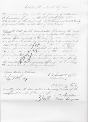 1862 Contract With A Private Physician