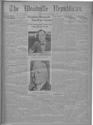 1933-Mar-4 The Woodville Republican, Page 1
