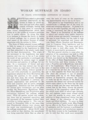 5/26/1900 - Harpers Bazar - Woman Suffrage in Idaho - page 1 - Fold3.com