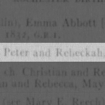 Peter and Rebeckah Jucket
