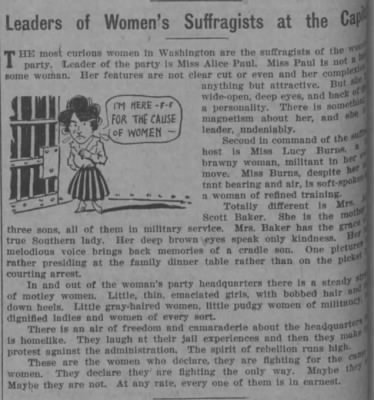 1/26/1918 - Leader's of Women's Suffragists at the Capital - Fold3.com